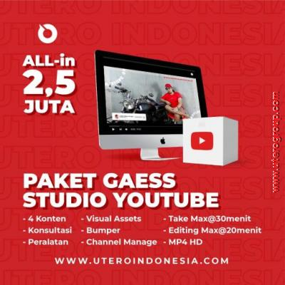 PAKET GAESS STUDIO YOUTUBE