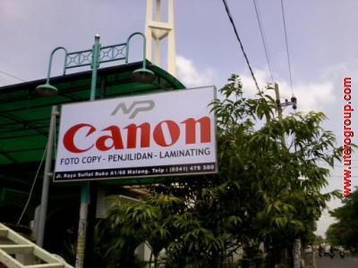 PAPAN NAMA CANON