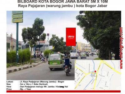 BILBOARD KOTA BOGOR JAWA BARAT 5M X 10M  Raya Pajajaran (warung jambu ) kota Bogor Jabar