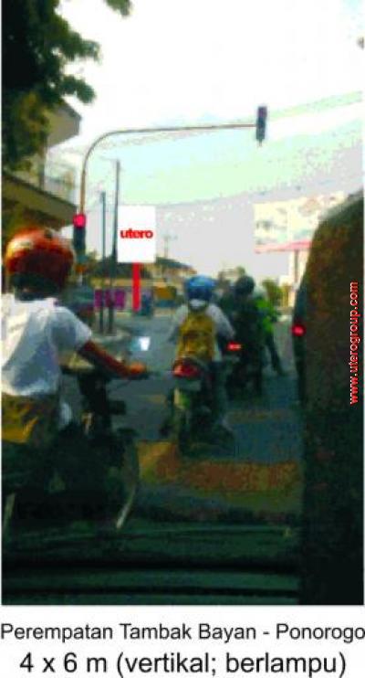 bilboard Perempatan Tambak Bayan - Ponorogo