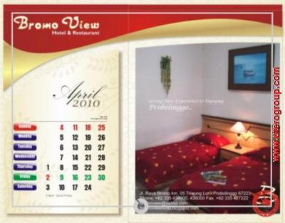 kalender april bromo view