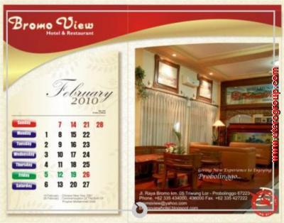 kalender februari bromo view
