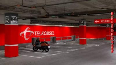 Wall Branding Telkomsel