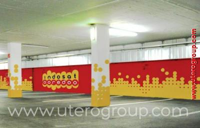 Wall Branding Indosat