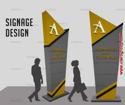 Signage Design Hotel Atria