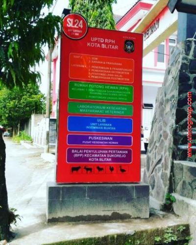 Neon Box UPTD RPH Kota Blitar