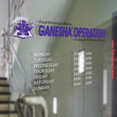 Stiker Cutting Ganesha Operation