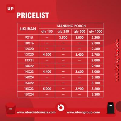 PRICELIST STANDING POUCH